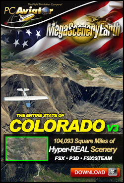 Mega Scenery Earth Version 3, Colorado (Download version)  DL-MSEV3-CO