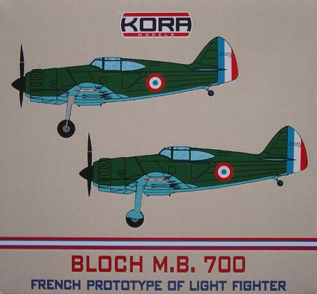 Bloch MB.700C.1 - Prototype of French light fighter  K72222