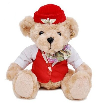 Stewardess Teddy Bear Plush With Uniform 20cm  BERIN