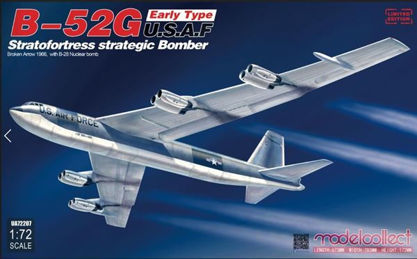 Boeing B52G Stratofortress Early Type (Broken Arrow 1966 with B28 Nuclear bomb  UA72207