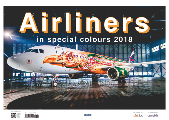 Airliners in Special Colours 2018 Calender  9789256716781