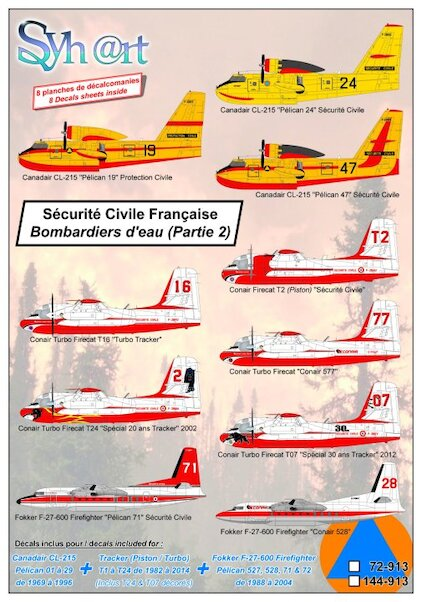 Sécurité Civile Française (Part 2) Canadair CL215, Tracker Firecat/Turbo Firecat, Fokker F-27 Firefighter  144-913