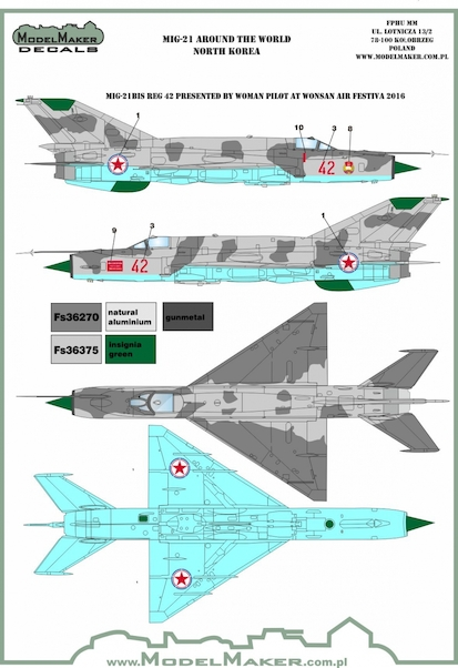 MIG-21 Fishbed around the world - North Korea  MMD-48107