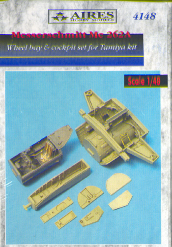 Messerschmitt Me262A Wheel bay and cockpit set (Tamiya)  4148