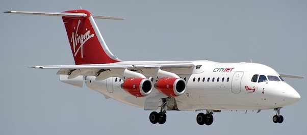 BAE146-200 Virgin Express / City Jet EI-CTY With Stand