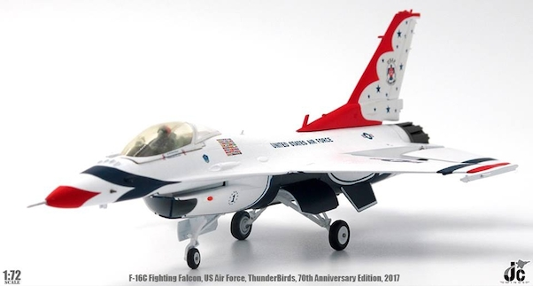 F16C Fighting Falcon (USAF, US Air Force, ThunderBirds, 70th Anniversary Edition, 2017)  JCW-72-F16-005