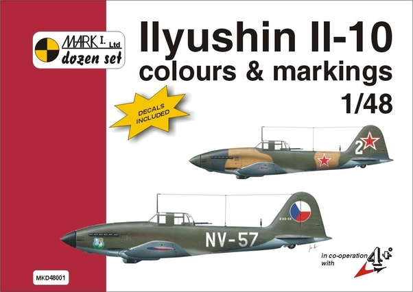 Ilyushin Il10 Colours & Markings + decals  9788086637068