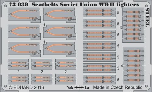 Detailset Seatbelts Soviet Union WWII fighters Steel  E73-039