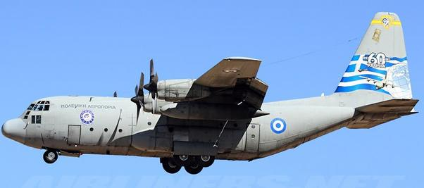 Hercules C130 L-382 (Greece: Hellenic Air Force) 745 With Stand  JF-C130-013