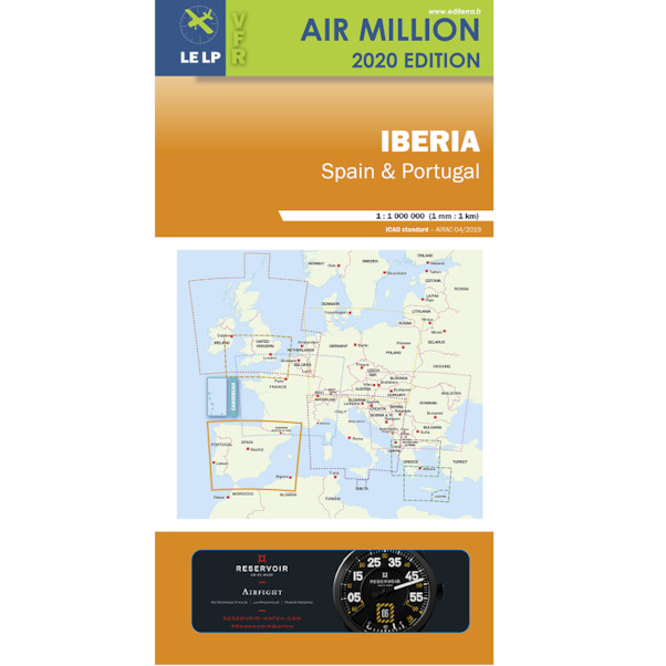 Iberia: VFR Chart Spain and Portugal Air Million 2020  3760249830161