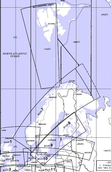 Low Altitude Enroute Chart Europe LO 7/8 Scandinavia  E (LO) 7/8