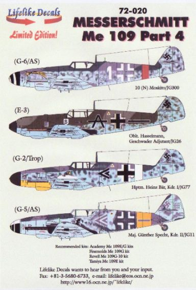 Messerschmitt BF109 part 4  LD72-020