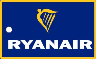 Bagagetag with Ryanair on one side and writable backside, including metal wire  BAGTAG Ryanair