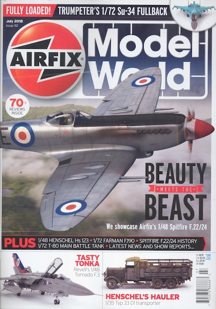 Airfix Model World Issue 92 July 2018  072527486666307