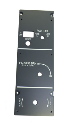 A320 Rudder Trim panel.  P320B07
