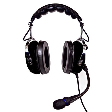 NicePower AN-1000A Passive noise cancelling General Aviation Headset (black)  AN-1000A-BL