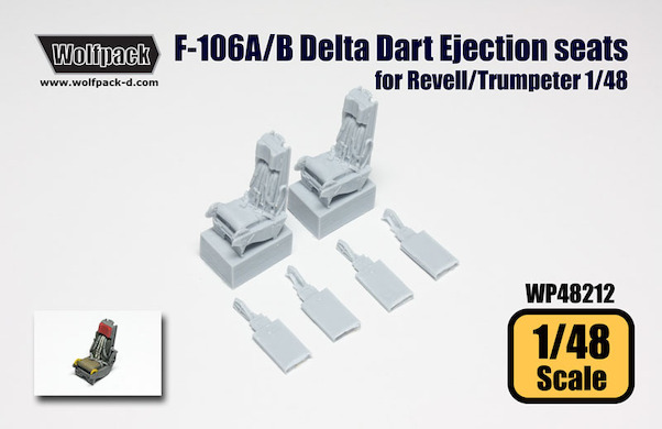 F-106A/B Delta Dart Ejection seat set (Monogram/Revell/Trumpeter)  WP48212
