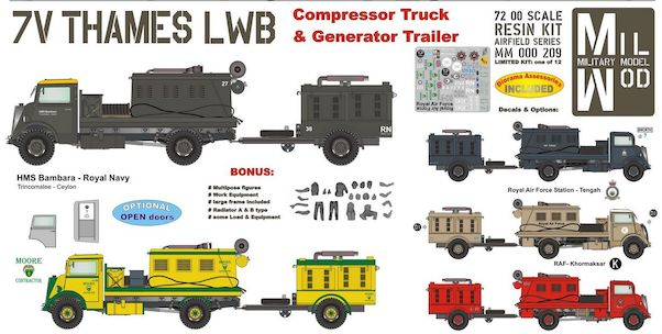 Thames 7V LWB Compressor with Generator Trailer with Figures and equipment  MM000-214