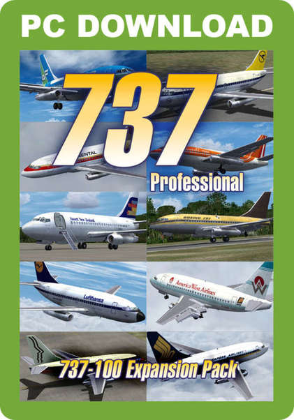 737 Professional - 737-100 Expansion Pack (download version FSX) (Just  Flight J3F000090-D)