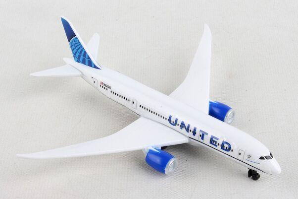 Single Plane for Airport Playset Boeing 787 United 2019 livery  RT6264-2