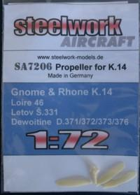 Prop blades for Gnome Rhone K14 engine (Loire 46, S331 and D370 srs)  sa7206
