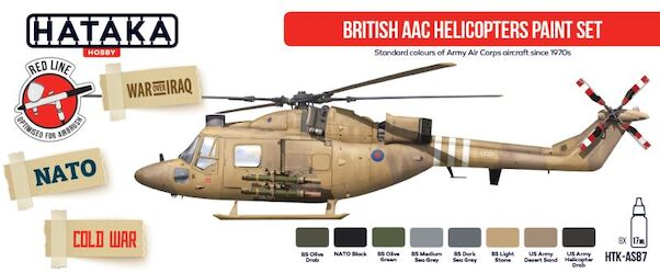 British AF Helicopters paint set vol. 1 (8 colours)  HTK-AS87