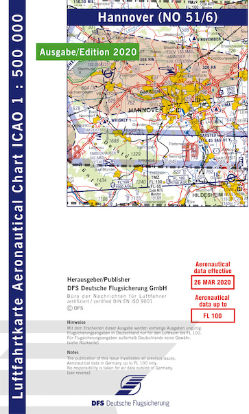 ICAO chart Germany Hannover 2020  51-6