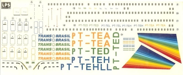 Boeing 737-300/400 Transbrasil (old colors )  LPS144-02
