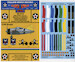 F2A-1/2 Buffalo Fuselage Bands & Wing Chevrons in all 6 section colours