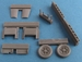 Messerschmitt BF109E (wing radiator, gun barrels, wheels, exhaust)  Airfix