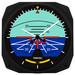 "10"" Artificial Horizon Instrument Style Clock"