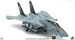 F14A Tomcat US Navy, VF-154 Black Knight, USS Kitty Hawk CV-63, 1998