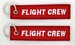 Keyholder with Flight Crew on both sides, red background