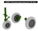 F104 Starfighter Undercarriage Wheels (early (Italeri)
