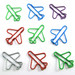 Plane Clips - box with aircraft-shaped paperclips (Red, White, Blue, Green, Yellow)  PAPER CLIPS image 1