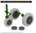 F104 Starfighter Undercarriage Wheels (Late) (Italeri)