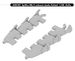 Spitfire MKV Exhaust stacks (fishtail) for Airfix