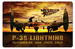 P-38 Lightning Sunset Metal Sign