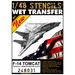 Wet Transfer stencils and RBF tags for F14A Tomcat (Hasegawa/Eduard)