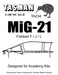 Mikoyan MiG21MF/Bis Canopy (Academy)