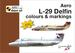 Aero L29 Delfin colours and markings + decals